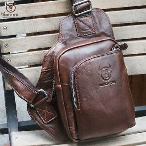 picked up temperament shoes best Details about Travel Men's Genuine Leather Chest Bags Sling Shoulder Sport  Bag Cross-body Pack