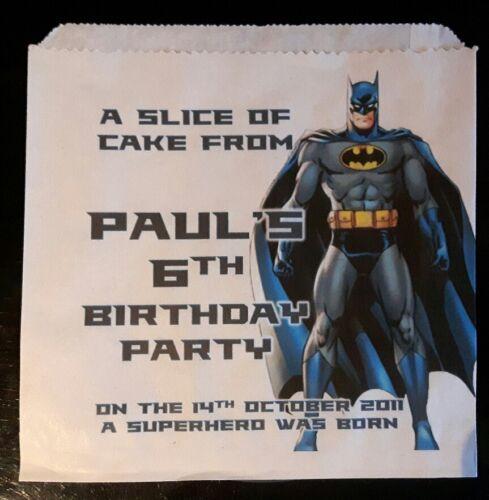 Personnalisé Batman Gâteau Blanc//Parti Sacs