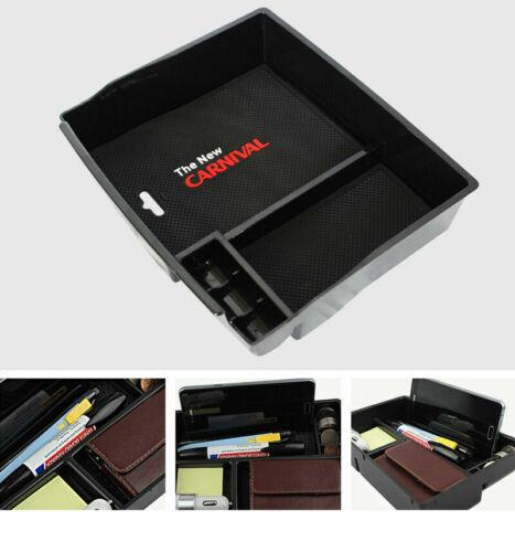 Center Console Tray Box Armrest Storage Box Black ARTROME for KIA 2019 CARNIVAL