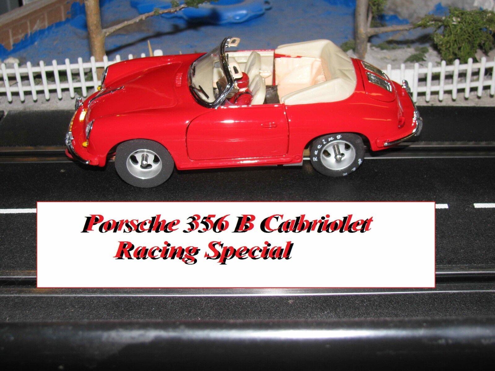 Porsche 356 Cabrio Slot Coche Racer con muchas modificaciones escala 1 24 - Buen