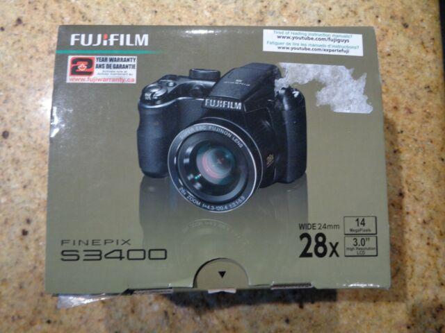Fujifilm FinePix S Series S3400 14.0MP Digital Camera - Black