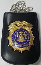 NY/NJ-Style-Police Honorary Surgeon's Shield/ID Card Neck Holder