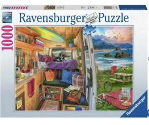 BN Psy Enveloppé Ravensburger Rig View VW Camper Camping-car Jigsaw Puzzle 1000