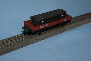 Marklin-4423-DB-Flat-Car-with-Pipe-Load