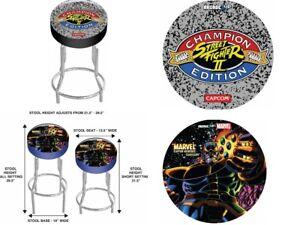 Arcade-1UP-Custom-Stool-Marvel-Arcade1UP-GamePlay-Adjustable-Thanos-Cab-Seat-New
