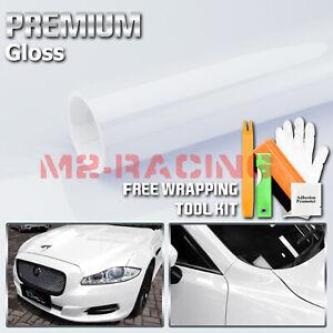 1FTx5FT Gloss WHITE Glossy Bubble Free Vinyl Wrap Sticker Decal Sheet Film