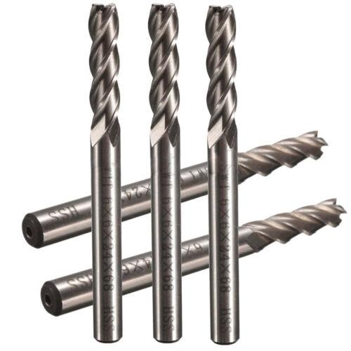 SWT 5pcs//set Extra Long 6mm 4 Flute HSS /&Aluminium End Mill Cutter CNC Bit H4Q1