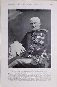 1897 Boer War General Sir Samuel James Browne V.C Gcb K. C.S.I Peshawar Feld