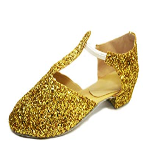 Gold glitter dance greek sandals - various sizes
