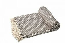 Ehc Super Soft Cotton Large Reversible Double Sofa Throws Blanket Bed Chair 150