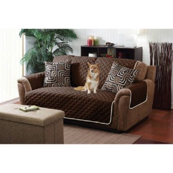 Phenomenal Quilted Reversible Pet Protector Cover Microfiber Chocolate Cream Chair Sofa Ls Ocoug Best Dining Table And Chair Ideas Images Ocougorg