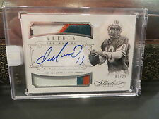 Panini Flawless Silver On Card Autograph Jersey Dolphins Dan Marino 03/25  2014