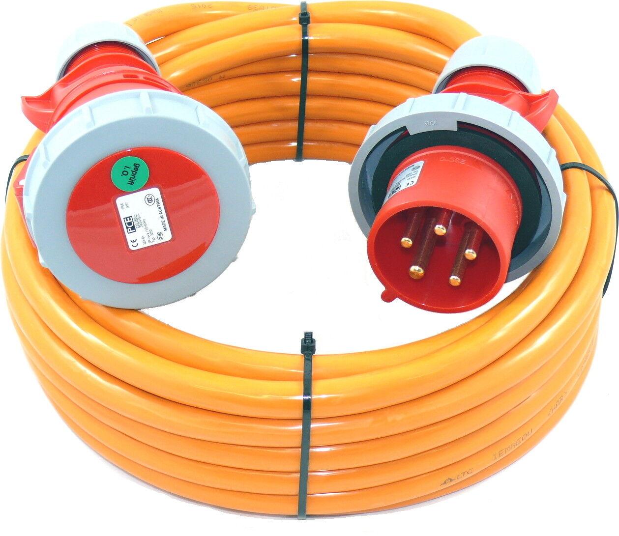 m CEE Verlängerungskabel mit PW wasserdicht H07BQ 5G6 5x6 32A IP67 35m