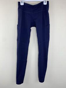 J Crew X New Balance Womens Size XS Navy Pocket Athletic Leggings
