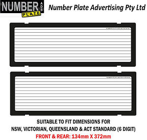 Number Plate Covers -  6 Digit - Clip On - Lines  (NSW, VIC,QLD,ACT,SA<wbr/>, WA)