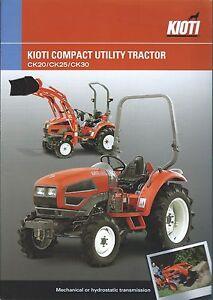 Details about Equipment Brochure - Kioti - CK20 25 30 - Utility Tractor -  c2005 (E3213)