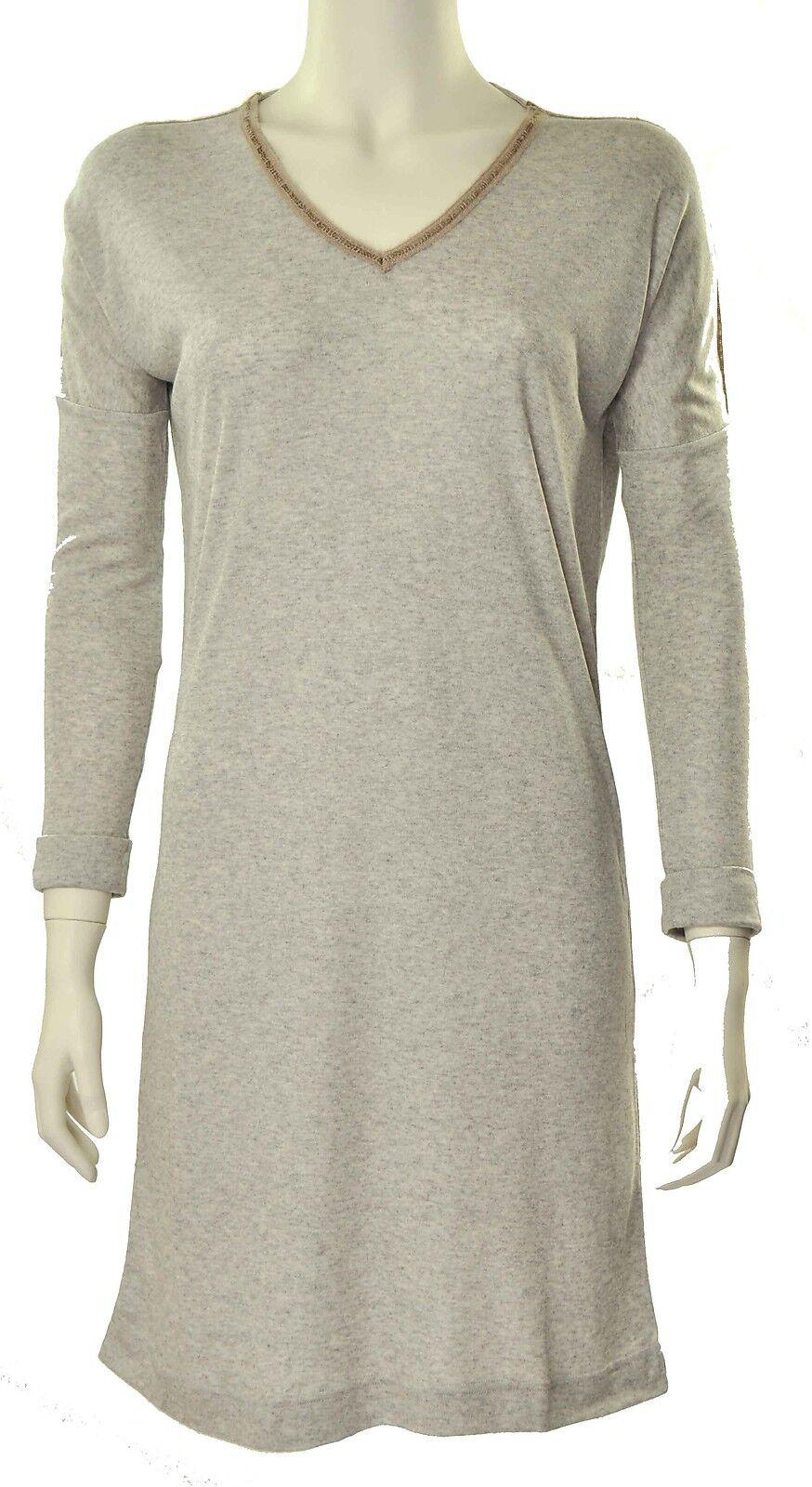 Sleepshirt Nachthemd Keiko Marke Pluto-  Modal Kaschmir- Fb sand grey- Gr 36- 46