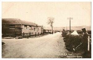 Antique-military-WW1-printed-postcard-YMCA-Hut-Chisledon-Camp-Army