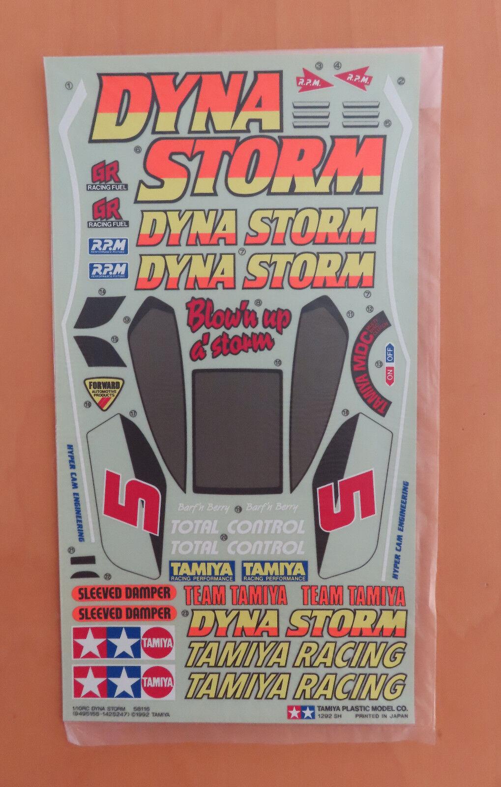 Radio Control Tamiya Calcomanía Dyna Storm 58116 NEU NUEVO en Caja 1992