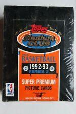 1992-93 Topps Stadium Club NBA Basketball Series 1 and 2 Factory Boxs