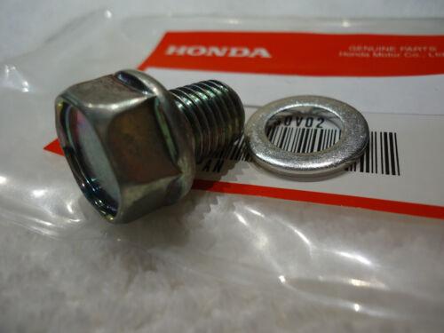 HONDA OIL DRAIN BOLT /& WASHER XL250 R XL500 S XL500R XL600 R FACTORY PARTS