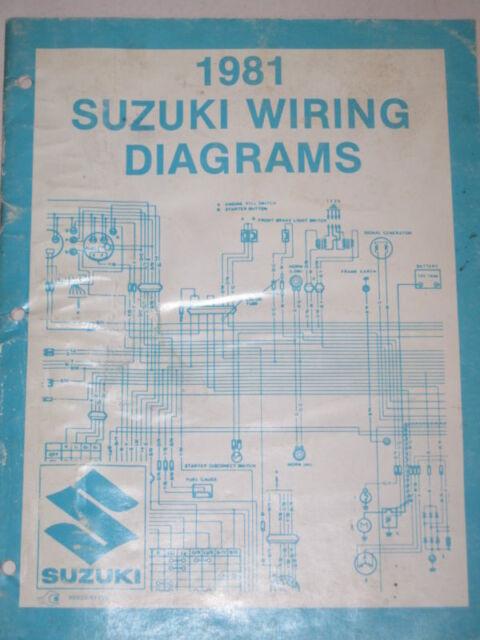 1981 Suzuki Wiring Diagram