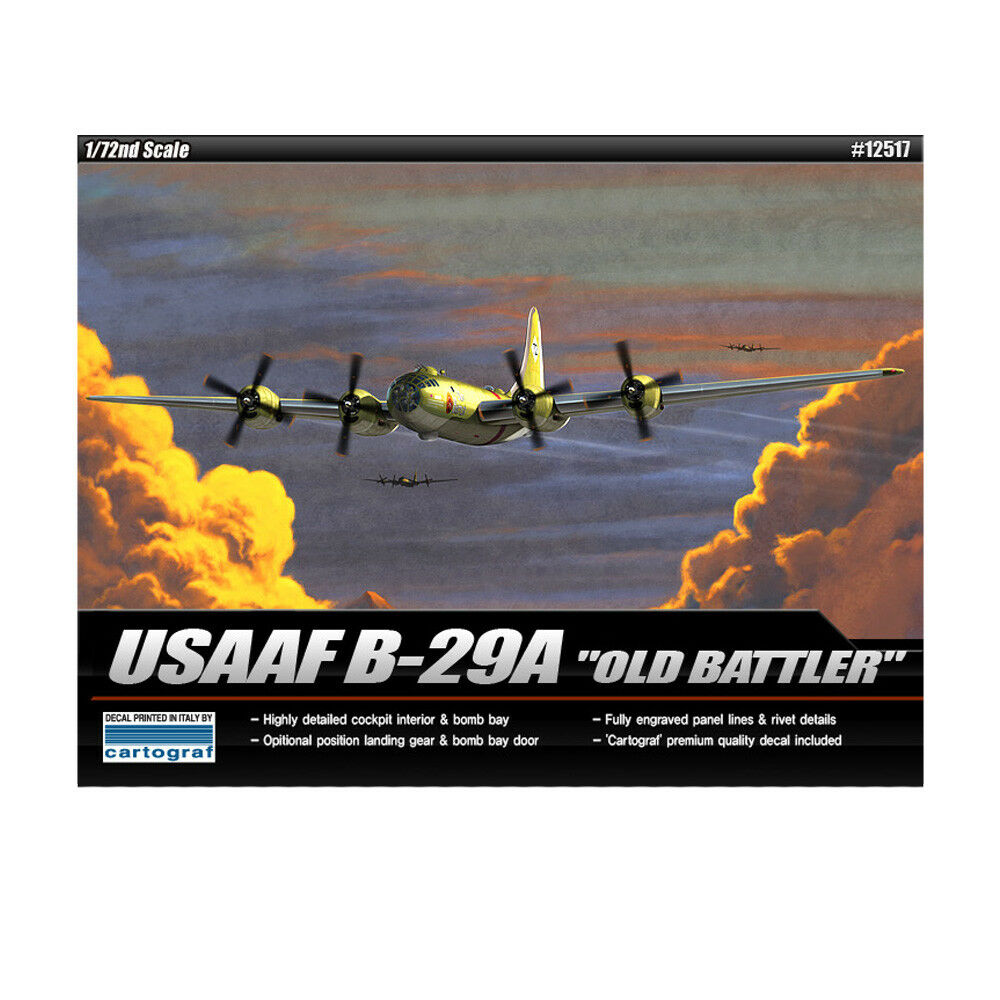 ACADEMY  72 Plastic Model Kit USAAF B-29A OLD BATTLER