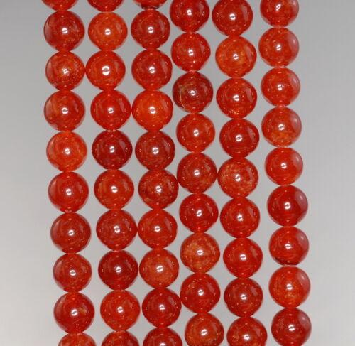 "8MM  JADE GEMSTONE GRADE A RUBY RED  ROUND LOOSE BEADS 15/"""