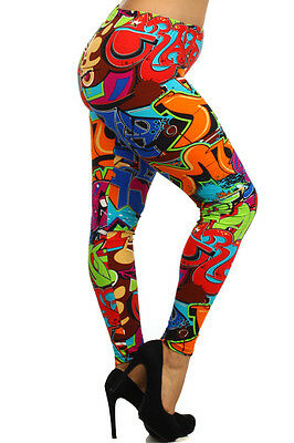 Womens Geometric Leggings S M L