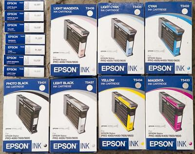 LOT OF 7 GENUINE NEW EPSON T5431 T5432 T5433 T5434 T5435 T5436 T5437