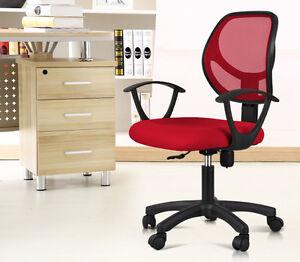 red ergonomic mesh computer office desk midback task chair w nylon