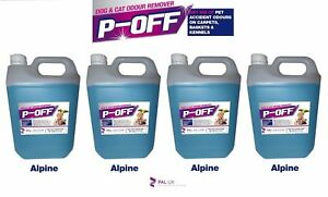 4 X 5l • P-off Odeur d'odeur d'urine pour animaux de compagnie - Wee Faeces Poo Chat Chien Pin
