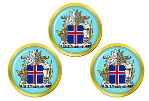 Islandais-Crest-Marqueurs-de-Balles-de-Golf