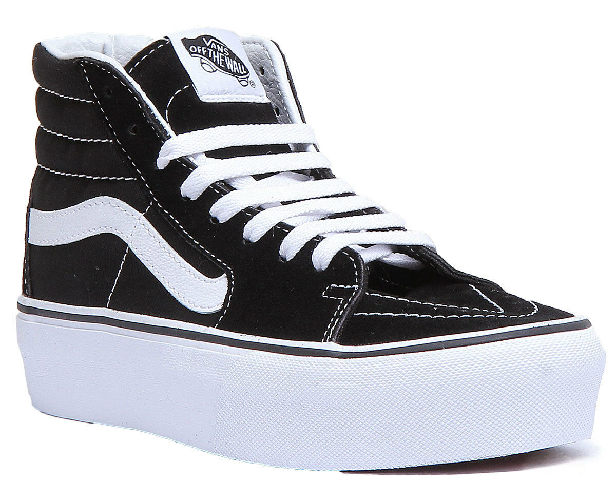 Vans SK8 Hi High Platform 2.0 Black White Side Strip Women Size