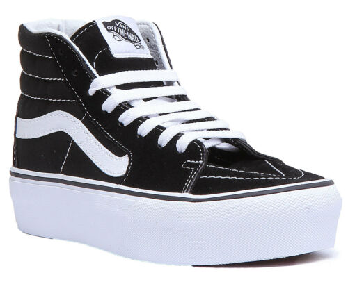 8 Platform Donna Sk8 0 Uk Side 2 Hi Strip Black White High 3 Size Vans Xdtx6qv6