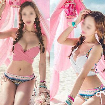 Sexy Women Bikini SET Push-up Padded Bra Swimsuit Bathing Suit Swimwear New Pink