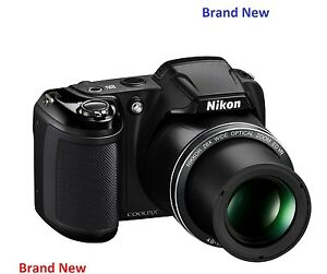Brand-New-Nikon-Coolpix-L340-20MP-28x-Zoom-Bridge-Camera-Black