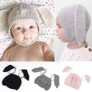 Toddler Kids Baby Boy Girl Hat Winter Warm Crochet Knitted Bobble Beanie Cap