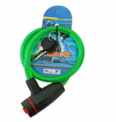 Câble antivol 2 clés pour vélo vélo scooter cyclomoteur porte cyclomoteur...