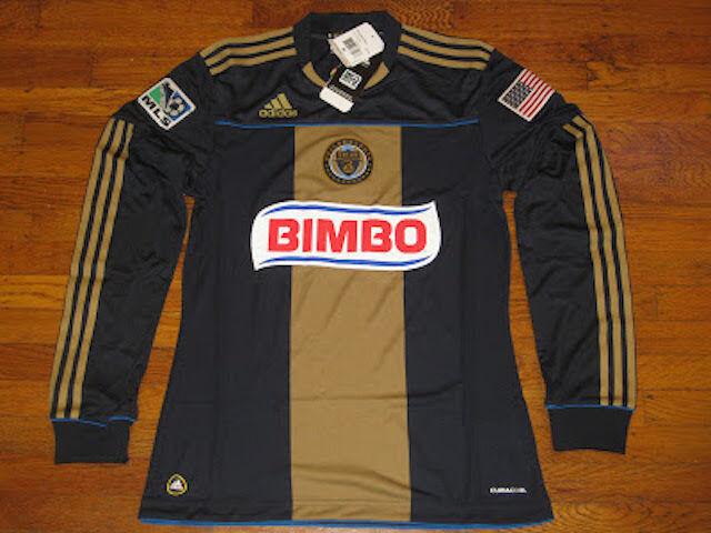 NWT Adidas Philadelphia Union Soccer Uomo Long Sleeves Jersey - S