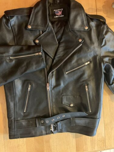 Leather Jacket / Motorcycle Mens/Allstate Leather
