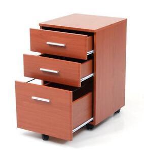 Cassettiera Ufficio 3 Cassetti.Cassettiera Mobiletto Ufficio Colore Ciliegio Con 3 Cassetti