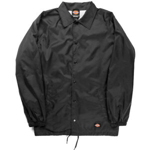 Dickies-Snap-Front-Lined-Windbreaker-Men-039-s-Nylon-Coaches-Jacket-Style-76242