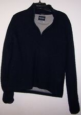 ABERCROMBIE and FITCH pullover w/lining gym issue 50% Merino wool  M nice
