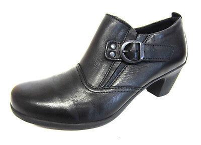 Easy B Cameo 79279a Damen Schwarz Leder Schuh Boot 4e Fit (r23a) | eBay