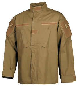 Us Tactical Raid Acu Outdoor Combat Armée Veste Veste Coat Coyote Tan Large