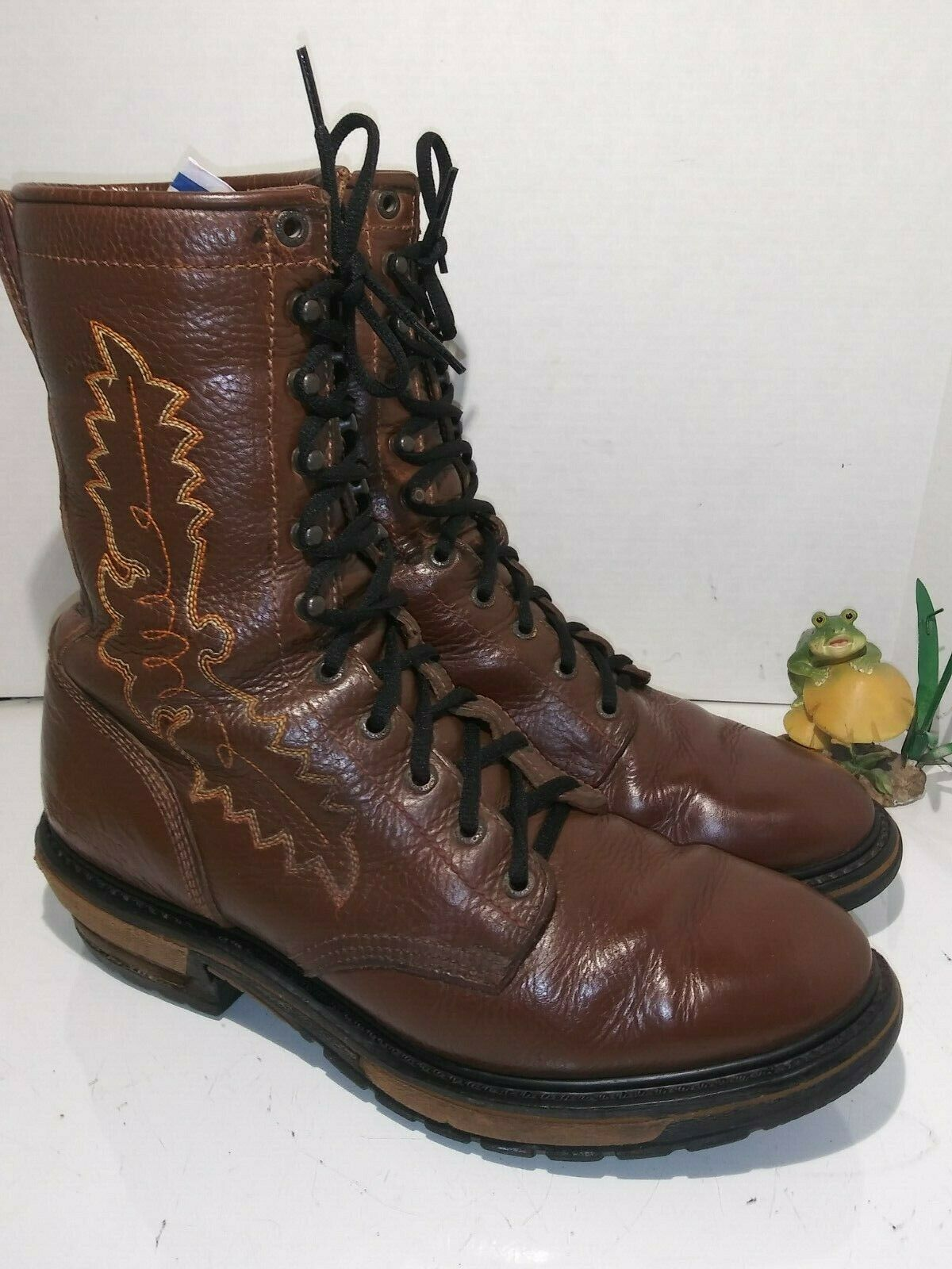Rocky 2618 Western Packer Collection Spokane Brown Boots Laces Mens Size 11 M