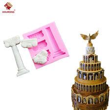 Silicone Roman Column Pillar Cake Mold Fondant Chocolate Gum Paste Craft Mould