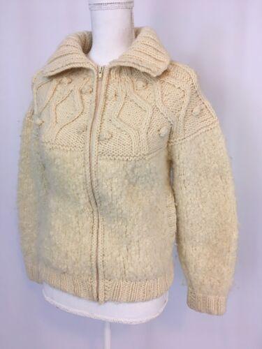 S Zip Kvinder Pure Vtg Jacket New Ireland Coat Sweater Wool Avoca Handweavers OWxHFP