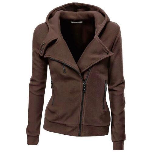 Damen Hoodie Kapuzenpullover Cardigan Kapuzen Mantel Jacke Sweatjacke Sweatshirt
